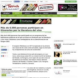 Más de 6.000 personas participan en itinerarios por la literatura del vino