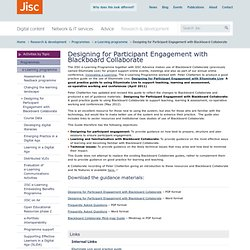 Designing for Participant Engagement with Blackboard Collaborate