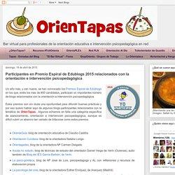 OrienTapas: Participantes en Premio Espiral de Edublogs 2015 relacionados con la orientación e intervención psicopedagógica