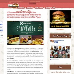 Sanduweek 2015: lista completa de participantes do festival de sanduíches