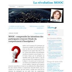 MOOC : comprendre les intentions des participants à travers l'étude du comportement d'inscription ?