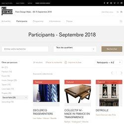 Participants – Paris Design Week