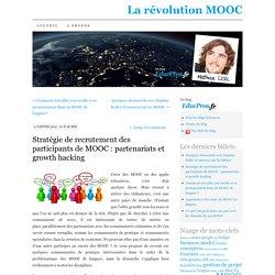 Stratégie de recrutement des participants de MOOC : partenariats et growth hacking