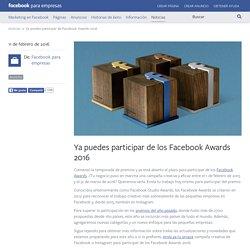 Ya puedes participar de los Facebook Awards 2016