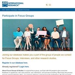 Participate in Focus Groups