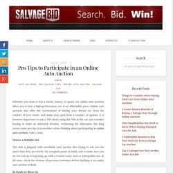 Tips to Participate in Online Auto Auctions