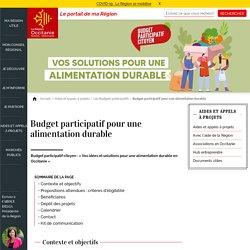 Budget participatif pour une alimentation durable
