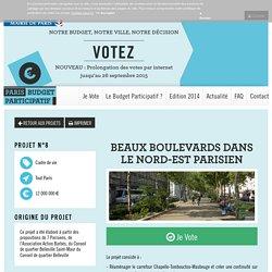 Beaux boulevards dans le Nord-Est parisien