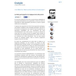 Le Web participatif et la logique de la discussion « Cratyle.net