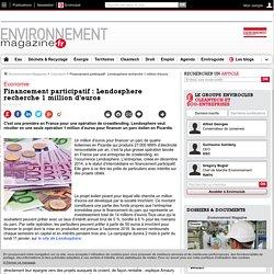 Financement participatif : Lendosphere recherche 1 million d'euros – Cleantech – Environnement-magazine.fr