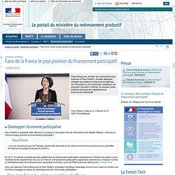 Faire de la France le pays pionnier du financement participatif
