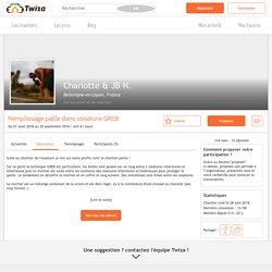 Chantier participatif Remplissage paille dans ossature GREB - Bellevigne-en-Layon, France - Twiza