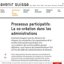 Processus participatifs: La co-création dans les administrations
