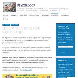 LES CONSEILS DE CLASSE PARTICIPATIFS – FEYDERCOOP