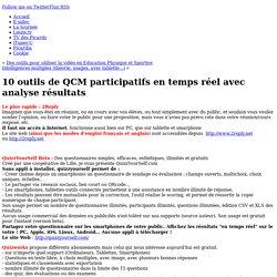 6 outils de QCM participatifs en temps réel avec analyse résultats