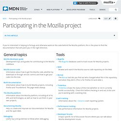 Participating in the Mozilla project