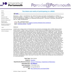 The ideals and reality of participating in a MOOC - Parade@Portsmouth