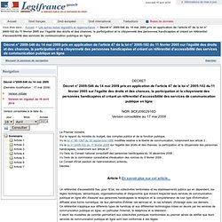 Accessibilité des services de communication publique en ligne