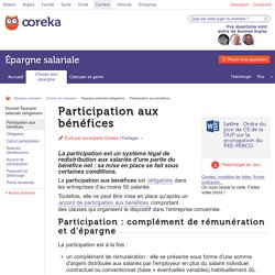 Participation aux bénéfices : principe - Ooreka