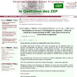 """Participation au concours """"CartoGraphie ton Quartier"""" : fiches de travail(...)"""