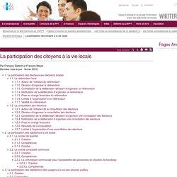 La participation des citoyens à la vie locale (vitrine.La participation des citoyens à la vie locale) - CNFPT