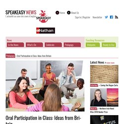 Oral Participation in Class: Ideas from Britain