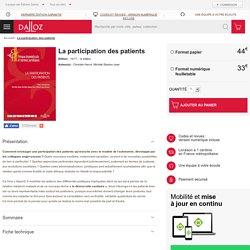 La participation des patients - Thèmes et commentaires - 10/2017 - 1e édition