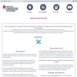 Design & participation – Institut de la Concertation et de la Participation Citoyenne
