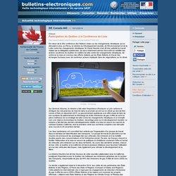 2014/12/19> BE Canada443> Participation du Québec à la Conférence de Lima