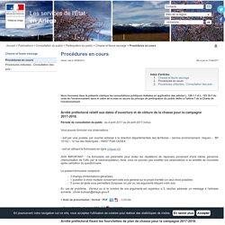 Procédures en cours / Chasse et faune sauvage / Participation du public / Consultation du public / Publications / Accueil - Les services de l'État en Ariège