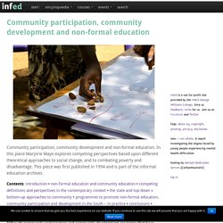 Community participation, community development and non-formal education
