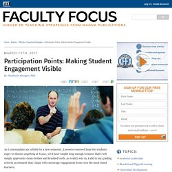 Participation Points: Making Student Engagement Visible