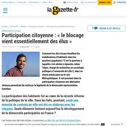 Participation citoyenne : « le blocage vient essentiellement des élus »