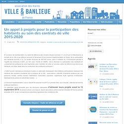 Un appel à projets pour la participation des habitants au sein des contrats de ville 2015-2020