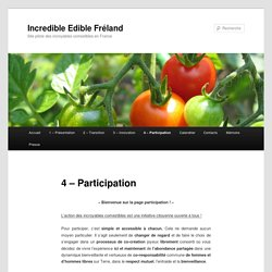 4 – Participation | Incredible Edible Fréland