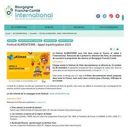 Festival ALIMENTERRE : Appel à participation 2019 - BFC International