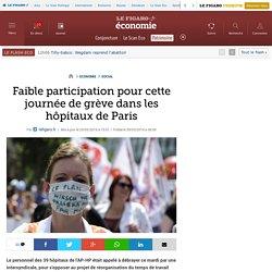 Faible participation pour cette journée de grève dans les hôpitaux de Paris