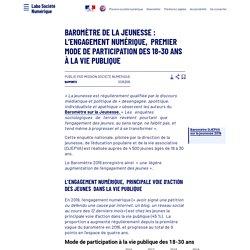 Baromètre de la jeunesse: l'engagement numérique, premier mode de participation des 18-30 ans à la vie publique - Laboratoire d'Analyse et de Décryptage du Numérique