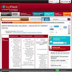 Forfait social fiscalité participation LégiFiscal