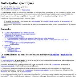 Participation (politique)