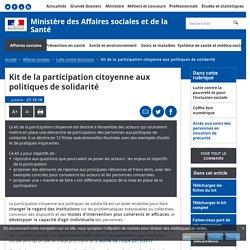 Kit de la participation citoyenne aux politiques de solidarité - Lutte contre l'exclusion - Ministère des Affaires sociales et de la Santé