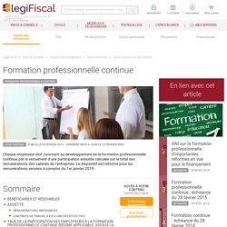 Participation taux formation professionnelle continue LégiFiscal