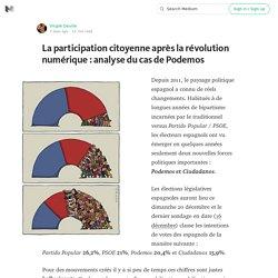 La participation citoyenne après la révolution numérique : analyse du cas de Podemos