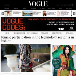 Female participation in the technology sector is in fashion