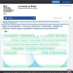 """Appel à participation - Concours d'écriture """"Traversées : Habiter et (...) - La France au Brésil"""