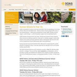 SOAS Outreach Sixth Form Summer Schools