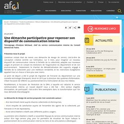 Une démarche participative pour repenser son dispositif de communication interne - AFCI