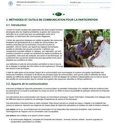 Approche participative, communication et gestion des ressources forestières en Afrique sahélienne: Bilan et perspectives