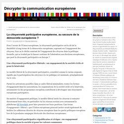 La citoyenneté participative européenne, au secours de la démocratie européenne ?