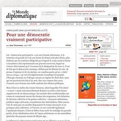 Pour une démocratie vraiment participative, par Jean Chesneaux (Le Monde diplomatique, août 1991)